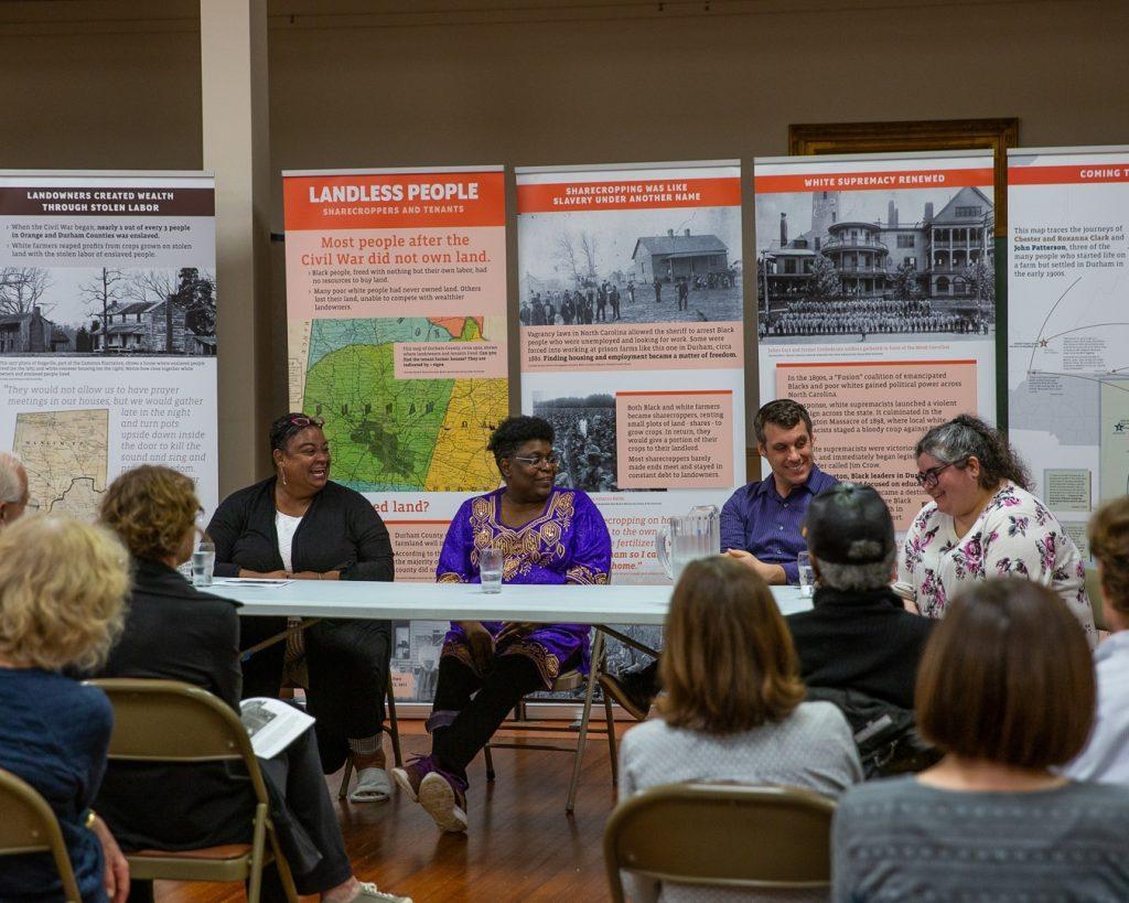 Duke Chapel representatives meeting with community members